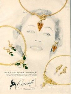 vintage ads for Corocraft Jewelry
