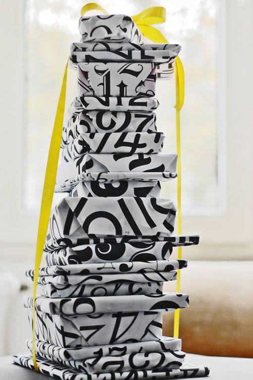 Angelo Stitz: Typographic Gift Wrap