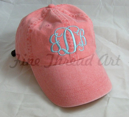 monogrammed hat. need this!