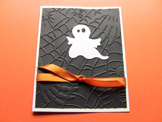 Handmade Halloween Card White Ghost