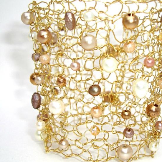 knit wire jewelry