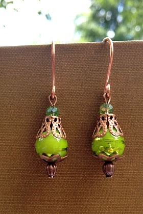 Summer Lime Handmade Earrings Measurements: 1.25 inch dangle Price: $9.99