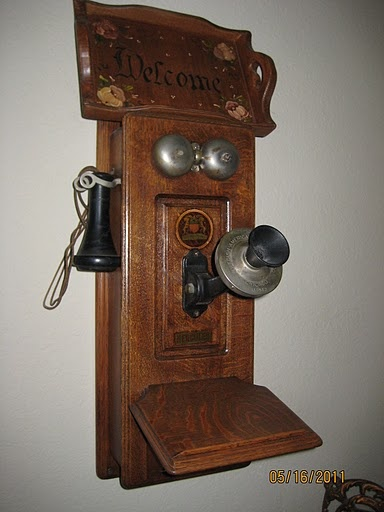 Antique phone that was in father's (pinner) farmhouse when he was a little boy.