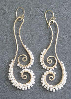 Fabulous spiral earrings