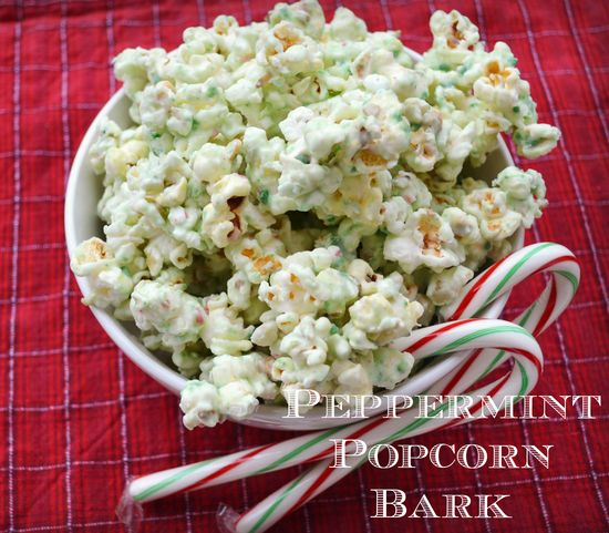 Peppermint Popcorn Bark in Christmas, Dessert Recipes, Recipes