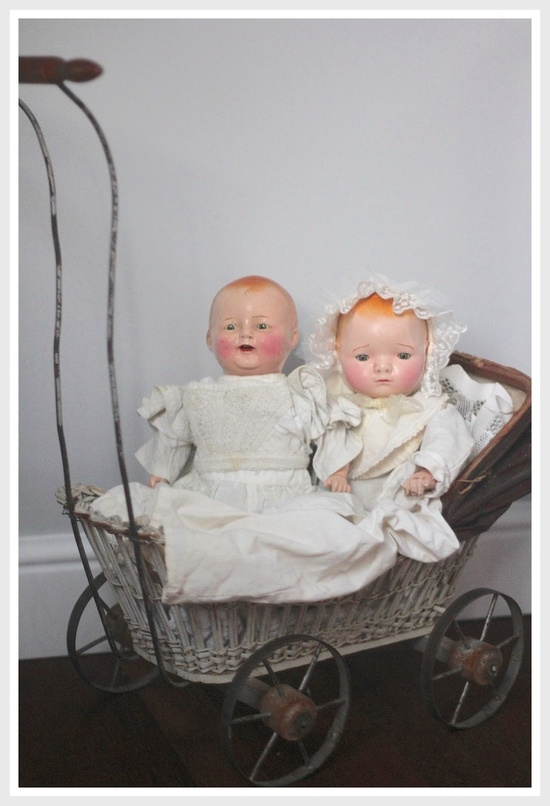 vintage dolls and carriage