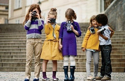 cute kid outfits + cameras!