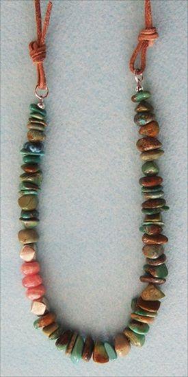 Handmade jewelry - handmade Hubei turquoise necklace handmade-beaded-g...