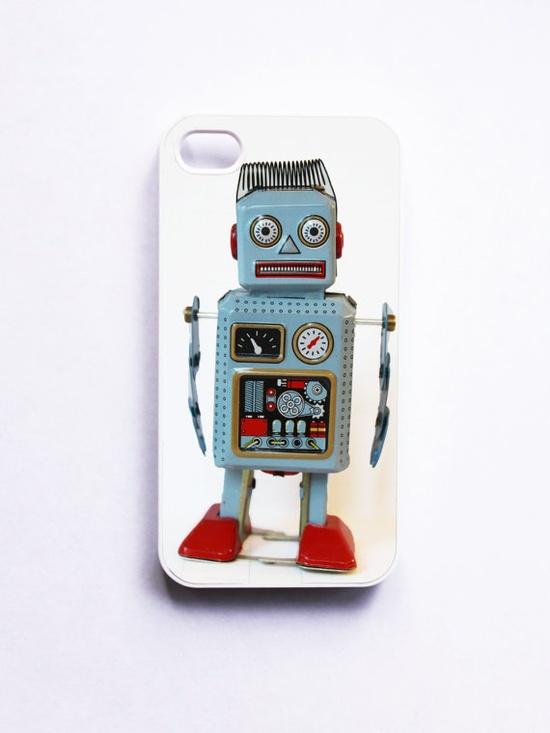 iPhone 4 Case Retro Robot by onyourcasestore on Etsy, $16.99