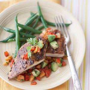 Blackened Chicken with Avocado Salsa: 20 Cheap Heart-Healthy Dinner Ideas Under $3