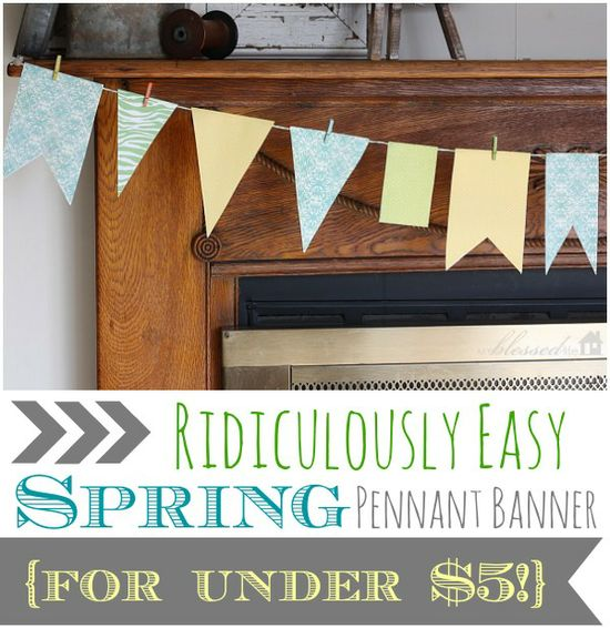Ridiculously Easy Spring Pennant Banner