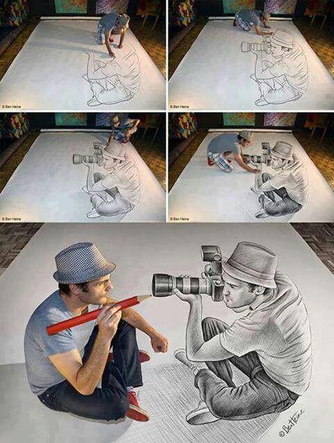Optical Illusion 3D Art