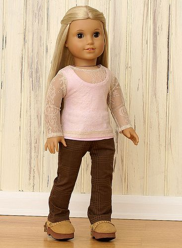 American Girl Doll Clothes-Pink Lace