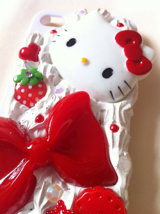 Hello Kitty strawberry phone case