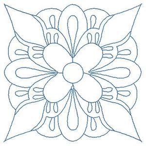 Quilt Swirls 2 Redwork Applique Machine Embroidery Design
