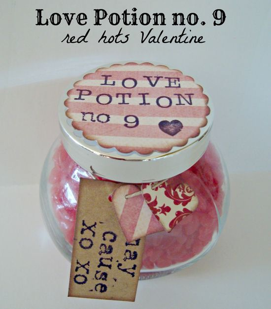 shaken together: {create this} love potion no. 9 ~ red hots Valentine