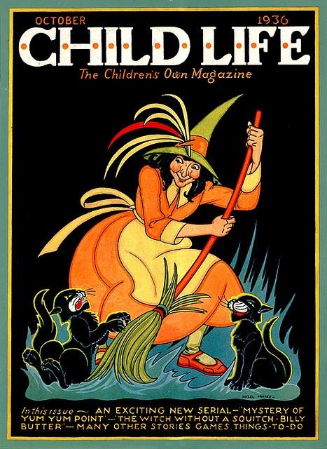 Vintage Halloween Child Life Magazine Cover
