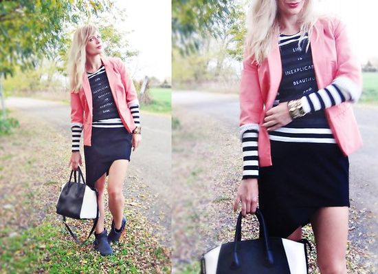 Zara Shirt, Reserved Blazer, Diy Skirt