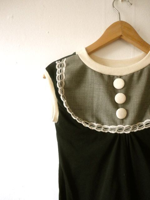 houndstooth blouse with lace
