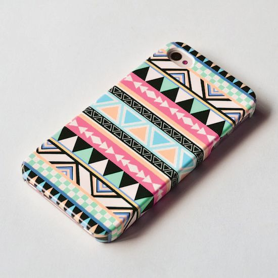 Pastel Aztec Geometric iPhone 4s case  iPhone 4 by IsolateCase. , via Etsy.
