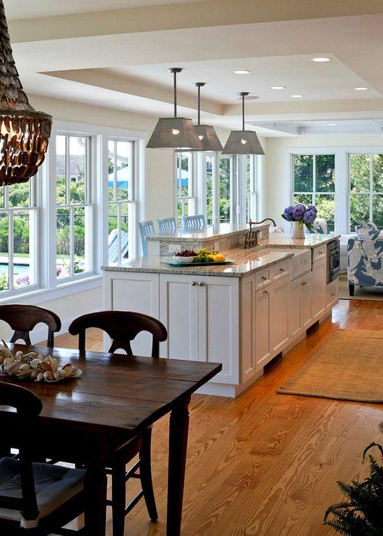 Cape Cod kitchen island – change flow to face kitchen south.