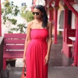 DIY 1 hour maxi dress with step by step directions.