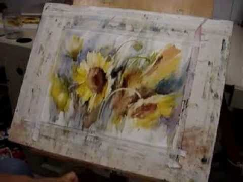 Fabio Cembranelli Superb loose watercolour painting demo