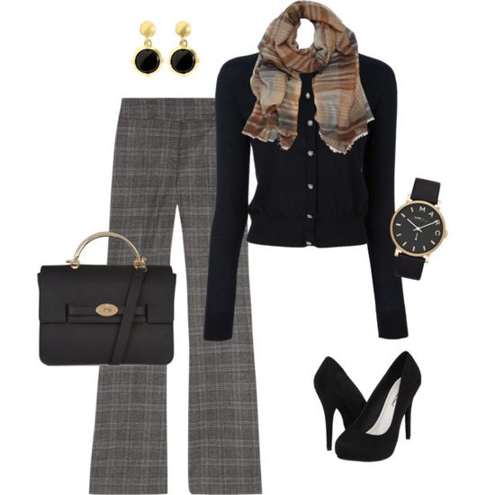 Mixed prints work outfit