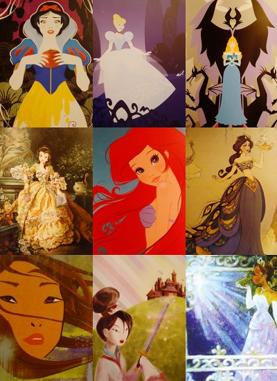 Disney Princesses poses