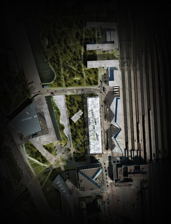 Light Forest: Helsinki Central Library Competition Entry - MenoMenoPiu Architects