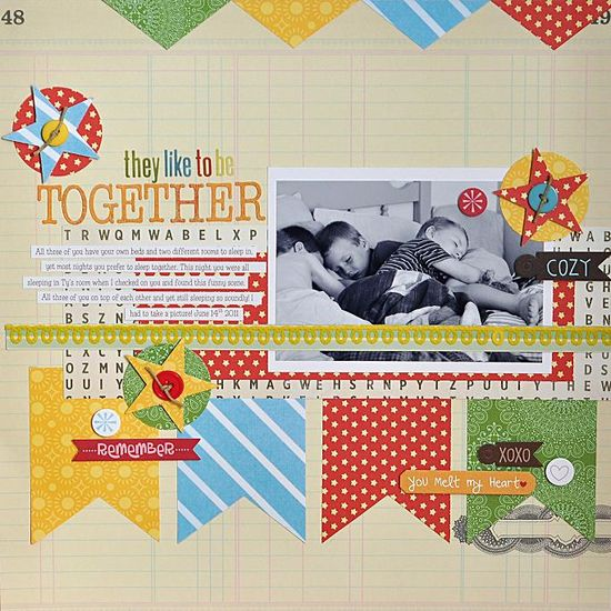 They Like To Be Together - Scrapbooking layouts