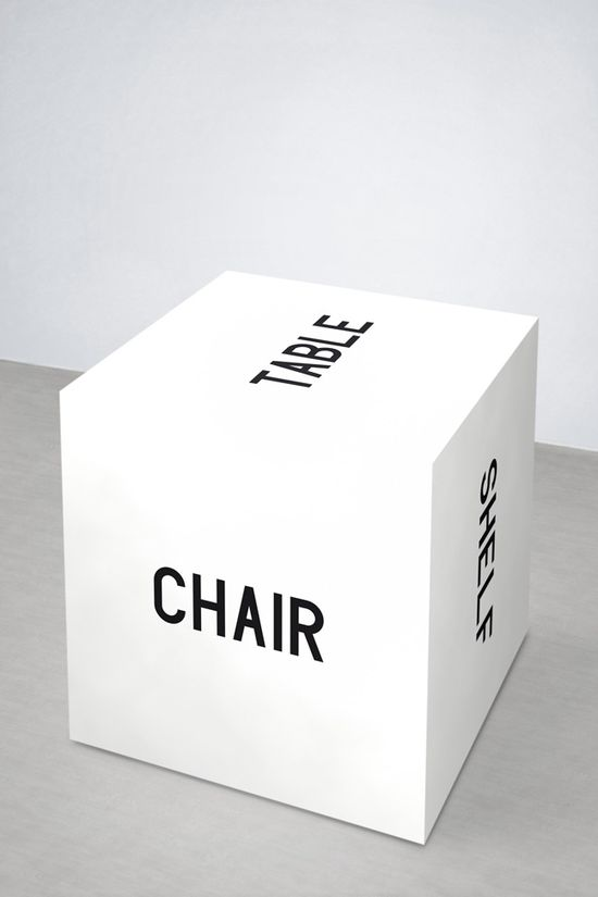 """""""The Meaning of a Word is its Use in the Language""""...Maciej Ratasjski. (Or....furniture minimalism. @Elizabeth Lockhart Lockhart Lockhart  Silbermann!) #Word_Cube #Language #Minimalism"""