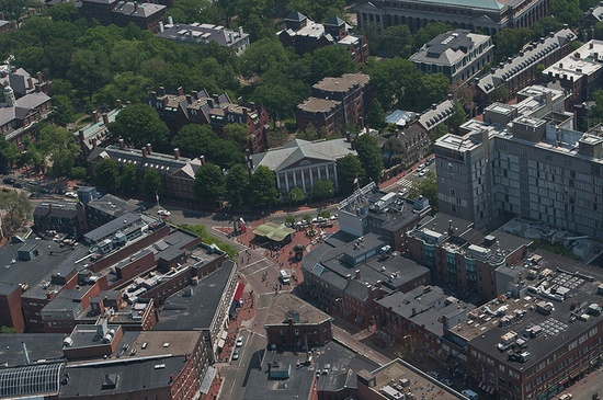 Harvard Square from the air