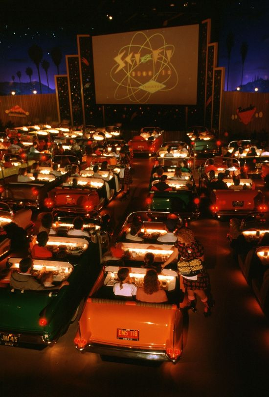 The cool way to eat ..Disney Drive-In style at the MGM Studios Walt Disney World
