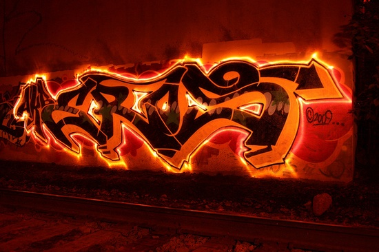 Fiery #graffiti! #typography