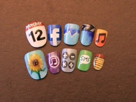 Nail art!    I'd personally never do that but it is cute! ????