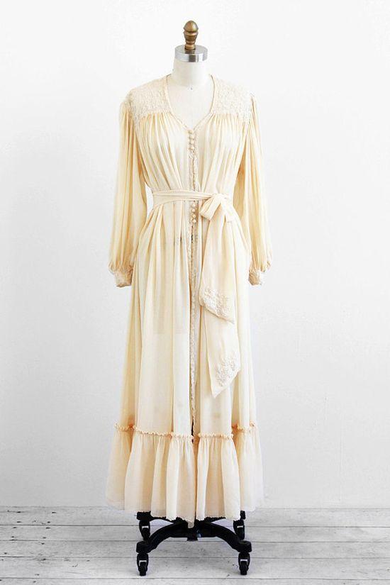 vintage 1930s chiffon wedding dress