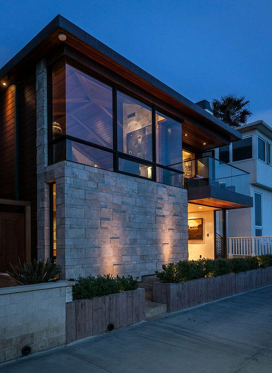 Beautiful ocean front residence designed by Beach House Design & Development situated in Manhattan Beach, California.