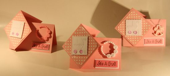Newborn Baby Girl Twister Card #kids