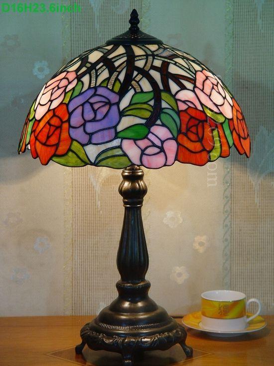 Rose Tiffany Lamp 16