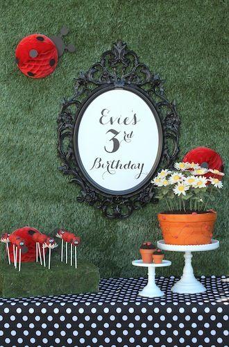 Ladybug Birthday Party dessert table!