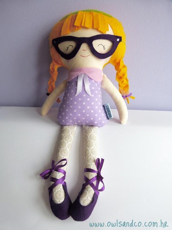 Handmade fabric doll,  Little Miss G.. $45  .00, via Etsy.
