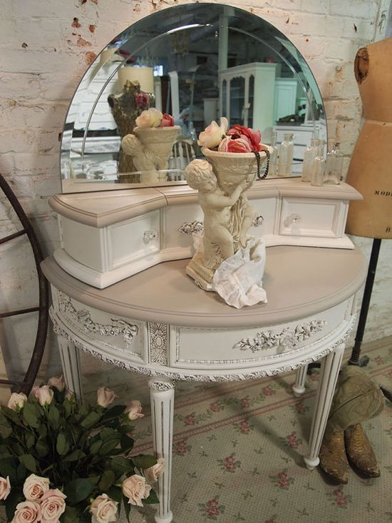 Painted Cottage Chic Shabby Oyster Romantic by paintedcottages, $595.00