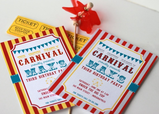 DIY Printable Carnival Invitation by partypapers on Etsy, $15.00