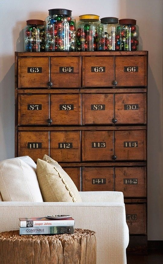 numbered industrial cabinet. by eddie