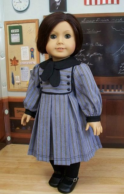 1930's School frock for Ruthie by Keepersdollyduds, via Flickr