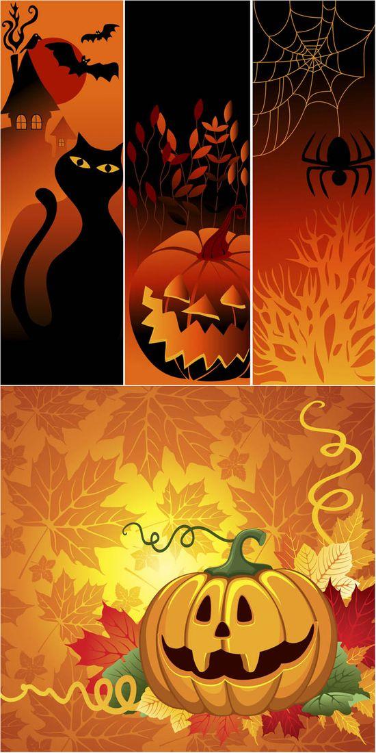 Halloween graphic design templates vector