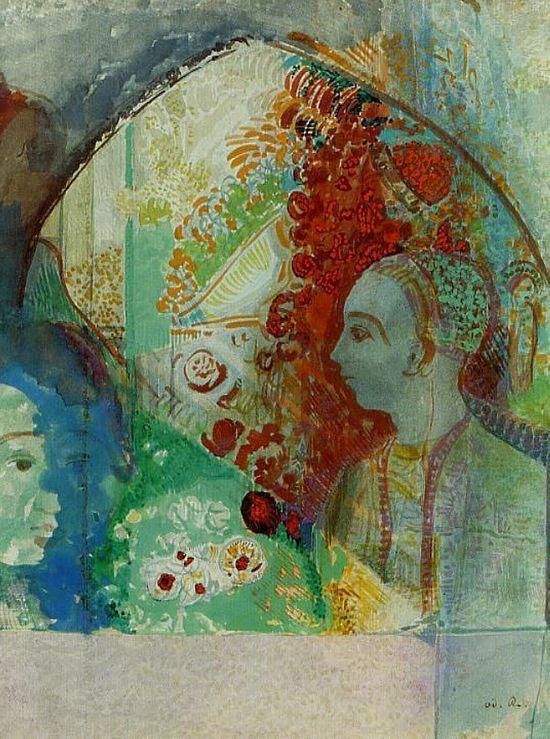 The Dream – Odilon Redon. Watercolour