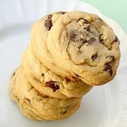 The fluffiest, chewiest, most amazing chocolate chip cookies I've ever had--all thanks to a very surprising ingredient!
