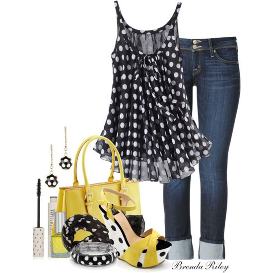 Polka Dots, created by brendariley-1 on Polyvore